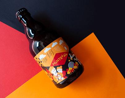 MontreAle. Beer Label