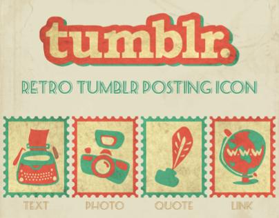 Retro Tumblr Icon Design