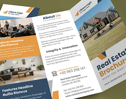Tri Fold Brochure Real State