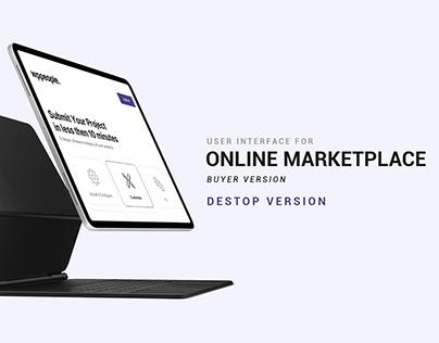 UI Design for Online Marketplace