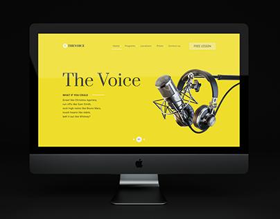 "Modern Web design for music school ""The Voice"""