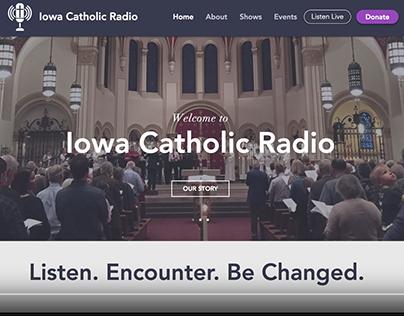 Iowa Catholic Radio | Website Redesign