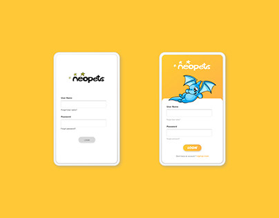 Application Design for Neopets.