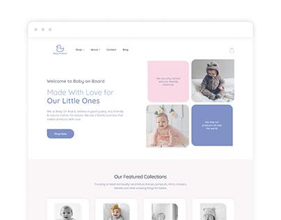 'Baby on Board' eCommerce site (alternative version)