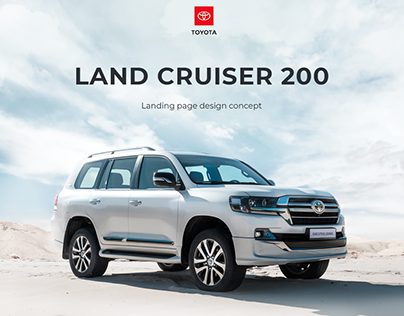 Landing page for Toyota Land Cruiser 200