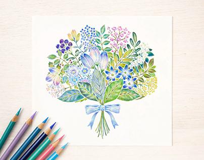 """""""Blue Bouquet No. 2"""""""