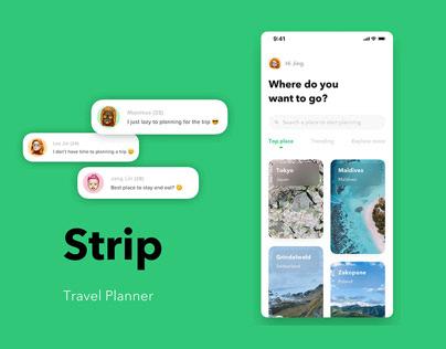 Strip - Travel Planner App Designing