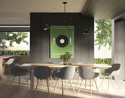 House in Jaworzno | interior design | visualizations