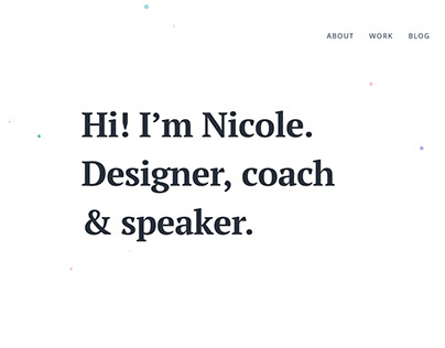 Nicole Saidy | Personal Website