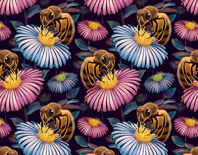 Colorful Digital illustration Art Pattern