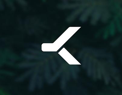K letter Logo Geometric Concept