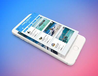 Cruise App - Adobe XD - UI Home Page