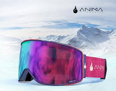 3D design and modeling snowboard googles