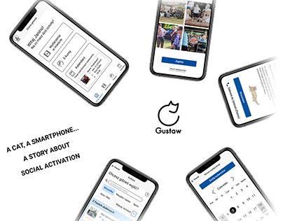 Gustaw - UX app project for senior citizens