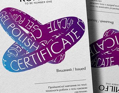 Certificate Сертификат