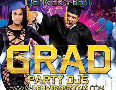 Denver's Best Graduation Party DJs Promo Flyer