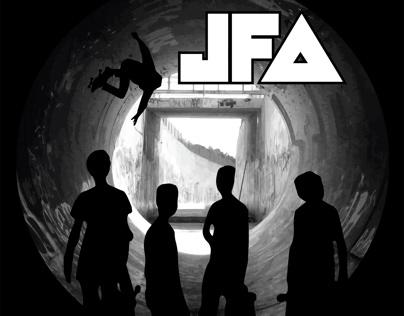 Bass drum art for JFA