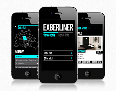 Exberliner. Mobile design