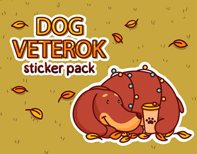 Dog Veterok VK Official sticker pack
