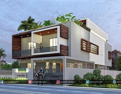 Modern House Design   G+2 Storey House