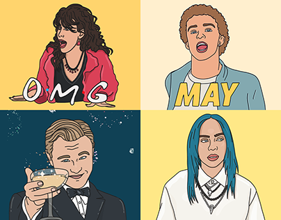 GIPHY Illustrated Celebrity GIFs