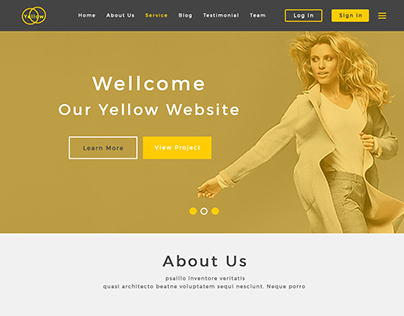 Yellow New Psd Template .