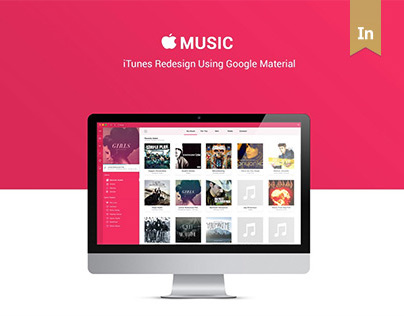 Apple iTunes Redesign Using Google Material