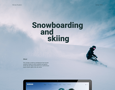 Web-site Snowboarding and skiing