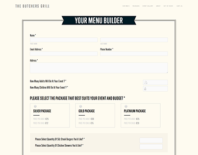 Custom Menu Builder on Squarespace Website