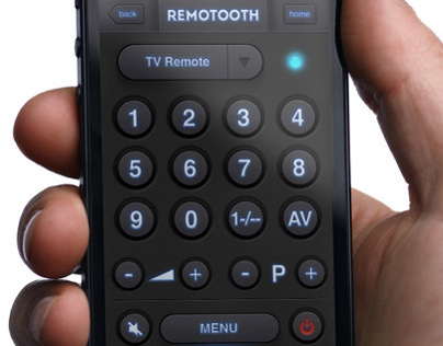 """REMOTOOTH"" - UI Design for iPhone"
