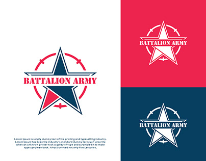 Battalion Army - Military - Logo Design