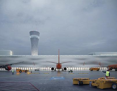 Blue Danube. Linz Airport