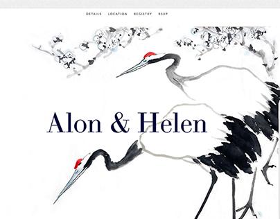 Web | Alon & Helen Stylish Wedding site
