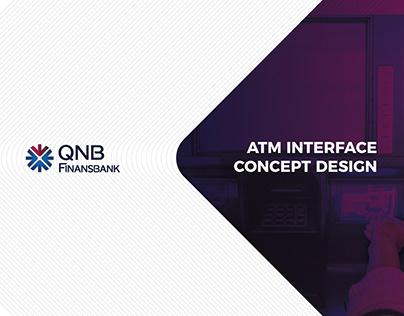 QNB Finansbank ATM UI Design Concept