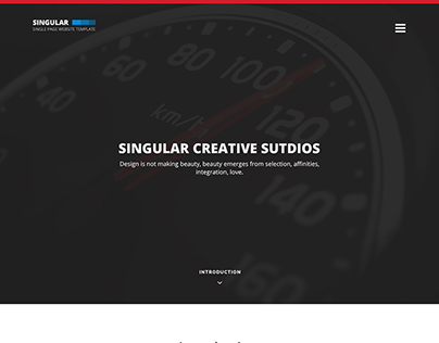 Best Free One Page Website Template – Singular [PSD]