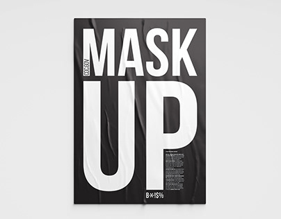 MASK UP typographic poster series