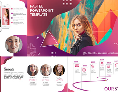 PowerPoint Templates Free Download | Pastel colors