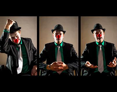 Autoportrait - clown nez rouge