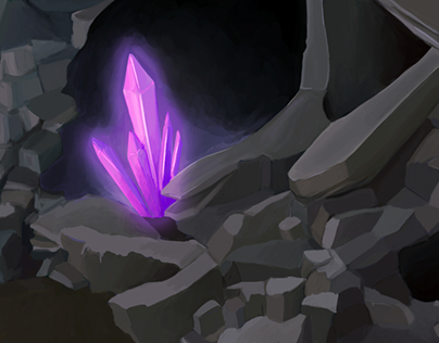 Cave Environment Painting