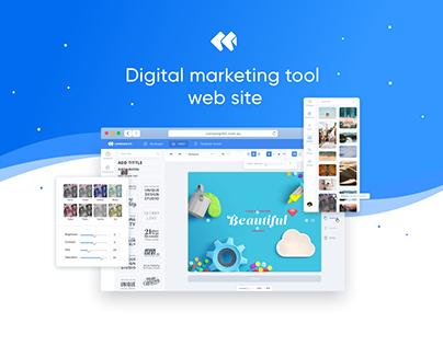 Digital marketing tool. Web site