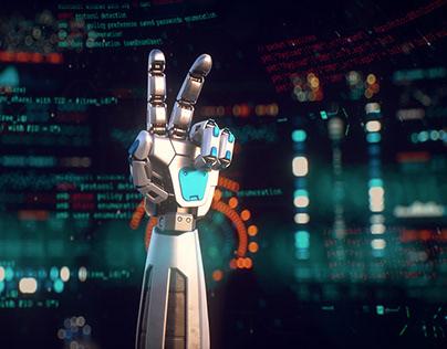 Segmented robot arm rig