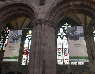 Hereford Cathedral: Home Front Banners Project. 2018