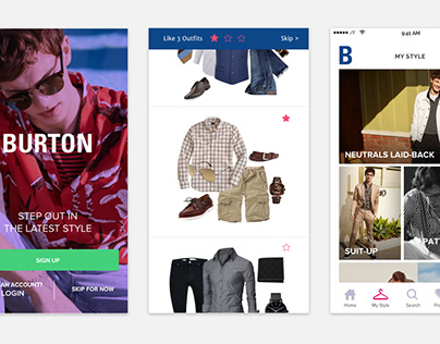 Burton: Men Fashion App Proposal