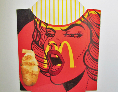 McDonald's Fries Box Art by Camille Junio