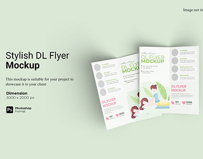 Stylish Bifold DL Flyer Mockup