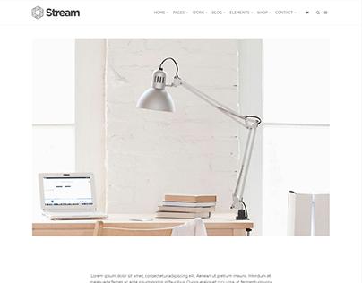 Single Post Portfolio - Stream WordPress Theme