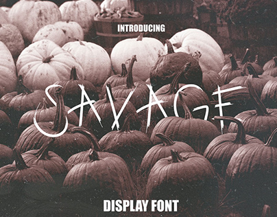 SAVAGE - FREE DISPLAY FONT