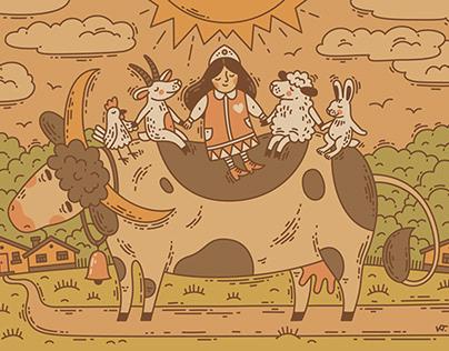 Иллюстрация для фермерского комплекса «Попов луг»