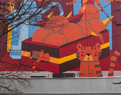 Mural: Oranges and Tigers