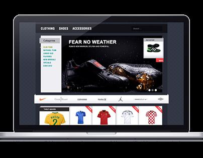 Sportsstore - Football Store Template